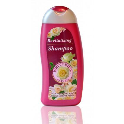 Ревитализирующий шампунь Белая роза с розовой водой White Rose Natural, 250 мл. - BulFresh, Болгария