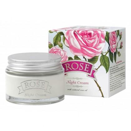 Крем для лица ночной Rose с розовым маслом, 50 мл. - Болгарская роза, Болгария