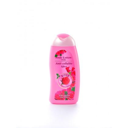 Лосьон для тела с антицеллюлитным эффектом с натуральной розовой водой Rose Natural, 250 мл. - Bulfresh, Болгария