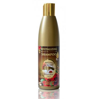 Восстанавливающий шампунь с аргановым маслом, розовой водой и кератином