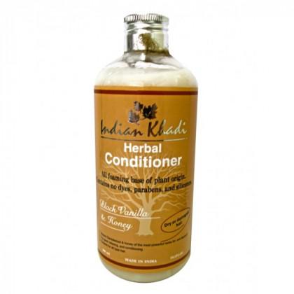 Кондиционер с черной ванилью и медом восстановление, 300 мл.- Indian Khadi