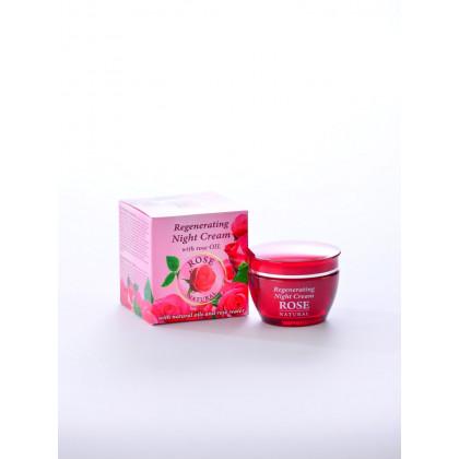 Ночной крем восстанавливающий с розовой водой Rose Natural