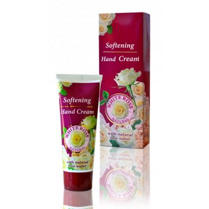 Смягчающий крем для рук с натуральной розовой водой White Rose Natural, 75мл. - Bulfresh, Болгария