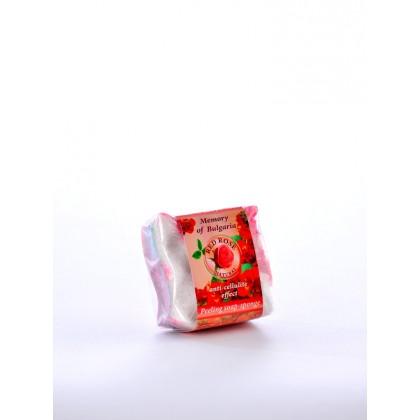 Глицериновое мыло-губка красная роза Red Rose Natural, 80 гр. - Bulfresh, Болгария