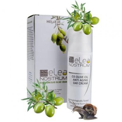 Антивозрастной дневной оливковый крем с содержанием улиточного секрета и ОМЕГА 3, 50 мл. - HELIX IR ELEA NОSTRUM Греция