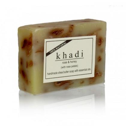 Успокаивающее мыло с мятой и пачули, 125 гр. - Indian Khadi