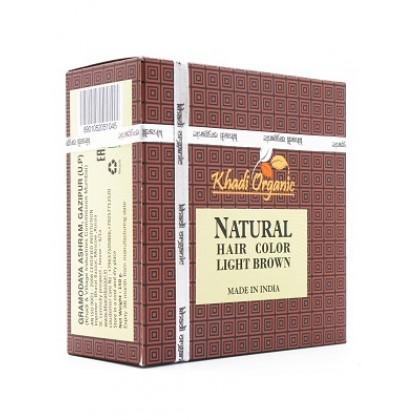 Натуральная хна для волос (светло-коричневая), 150 гр - Indian Khadi, Индия