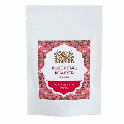 Лепестки Дамасской розы сухие для лица, 50 гр. - Indibird, Индия