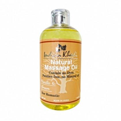 Романтическое массажное масло с Ванилью и маслом Семян Моркови, 200 мл.- Indian Khadi