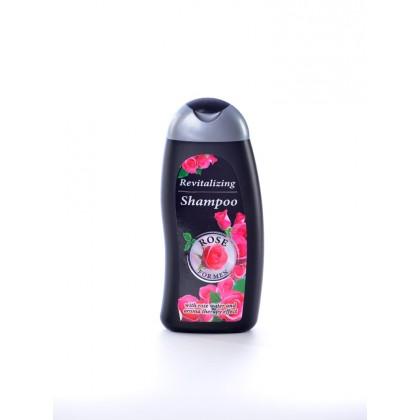 Ревитализирующий шампунь с розовой водой, Rose For Men, 250 мл. - Bulfresh, Болгария