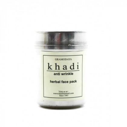 Сухая маска-убтан с сандалом, папайей и лепестками розы для возрастной кожи, разглаживание, 50 гр.-Indian Khadi