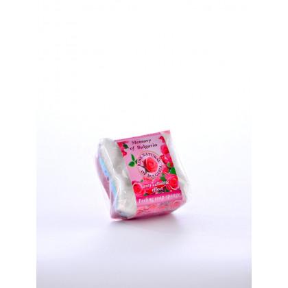 Глицериновое мыло - губка роза Rose Natural, 80 гр. - Bulfresh, Болгария