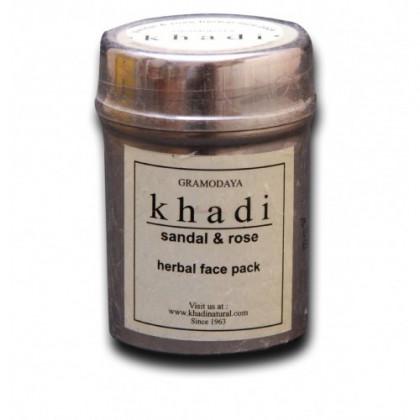 Сухая антивозврастная маска-убтан с розой для увядающей кожи, 50 гр. - Indian Khadi