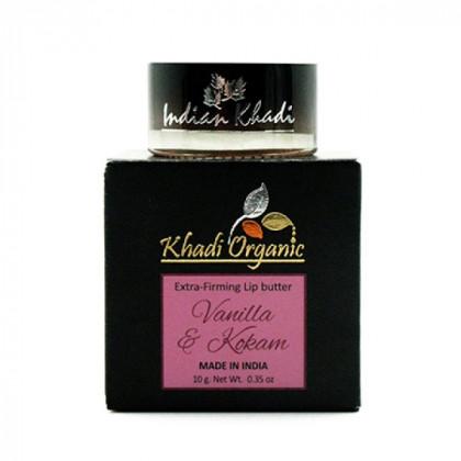 Укрепляющий бальзам для губ с ванилью и маслом кокума, 10 гр.- Indian Khadi