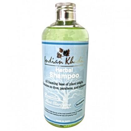 Освежающий шампунь с розмарином, мятой и розовой водой против перхоти и жирности, 300 мл. - Indian Khadi