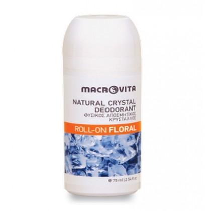 """Шариковый дезодорант """"Природный кристалл"""" с ароматом папайи Floral, 100 мл. - Macrovita Греция"""