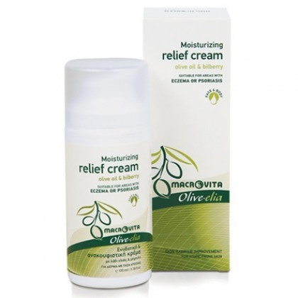Увлажняющий и успокаивающий крем для кожи, склонной к раздражению Olivelia, 100 мл. - Macrovita Греция