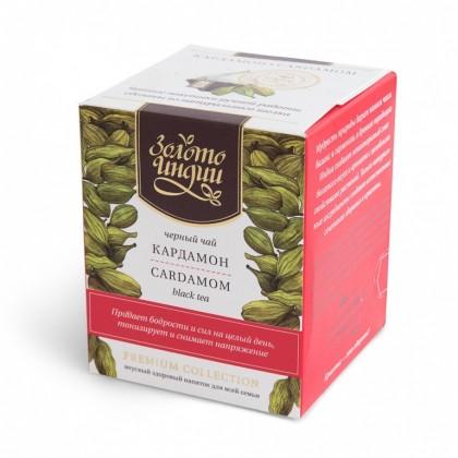 Чай «Золото Индии» Премиум Дарджилинг с кардамоном, 3 гр.Х 15 пак. - Golden Tips Tea, Индия