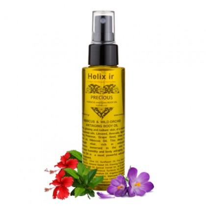 Антивозрастное масло для тела с гибискусом и орхидеей, 100 мл. - HELIX IR, Греция