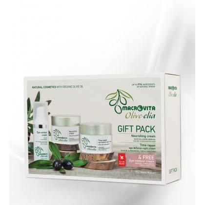 Подарочный набор: крем питательный + маска-крем интенсивное увлажнение + крем вокруг глаз бесплатно