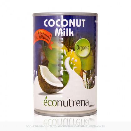 Органическое кокосовое молоко Econutrena Organic Coconut Milk