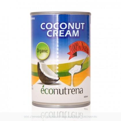 Органические кокосовые сливки (Econutrena Organic Coconut Milk), 400 мл - Econutrena, Шри Ланка