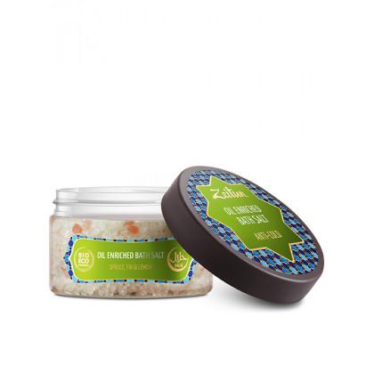 Противопростудная соль для ванн, с маслами ели, пихты, лимона