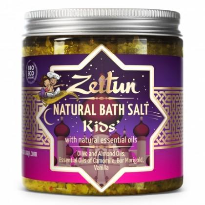 Детская соль для купания, с экстрактами ромашки, череды и ванили, 250 мл. - Zeitun, Иордания