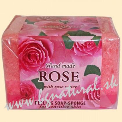 Глицериновое мыло-губка Розовый сад