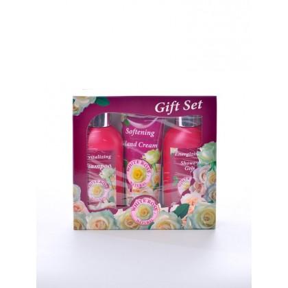 """Подарочный набор для женщин """" Белая роза"""" (шампунь, крем для рук, гель для душа) - Bulfresh, Болгария"""