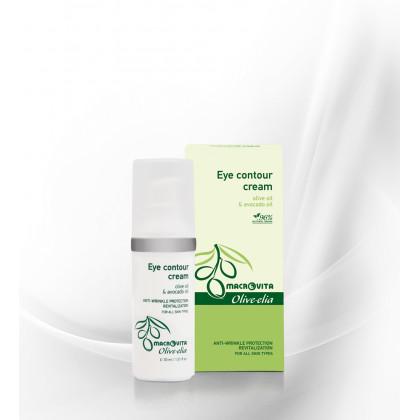 Крем для ухода за кожей вокруг глаз с оливковым маслом и витамином Е Olivelia, 30 мл. - Macrovita Греция