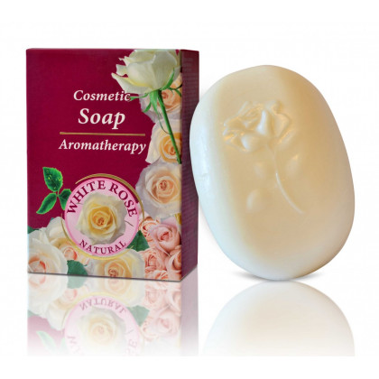 Натуральное мыло с Белой розой White Rose Natural, 100 гр.- Bulfresh, Болгария
