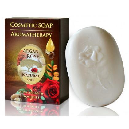 Натуральное мыло с аргановым маслом и розовой водой Argan Rose