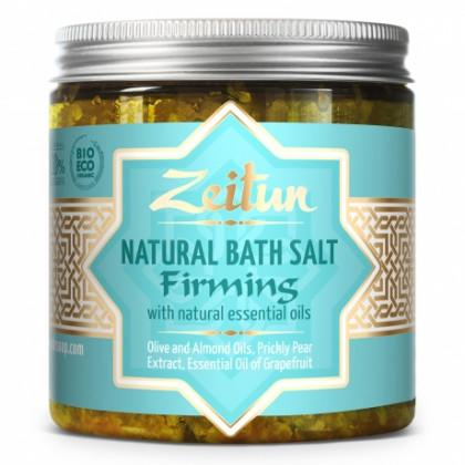 Общеукрепляющая соль для ванн, с маслами розового дерева, сосны и розмарина