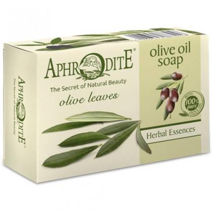 Оливковое мыло с оливковыми листьями, 100 гр. - Афродита, Греция
