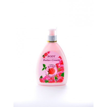 Body butter cream с натуральной розовой водой, 300 мл.Rose Natural – Bulfresh, Болгария