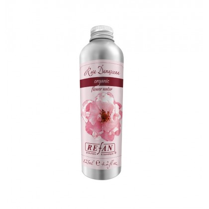 """Органическая розовая вода """"Роза дамасцена"""", 125 мл. - Refan, Болгария"""
