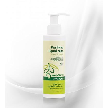 Жидкое мыло для лица для глубокого очищения Olivelia, 150 мл. - Macrovita Греция