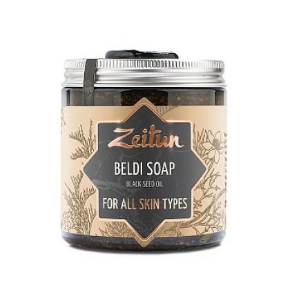 Деревенское мыло Бельди №6 целебное с маслом черного тмина, 250 мл. - Zeitun, Иордания
