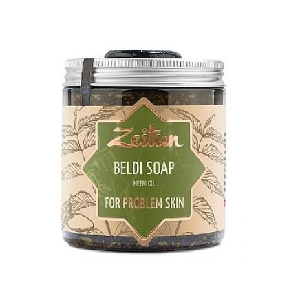 Деревенское мыло Бельди №7 для проблемной кожи с маслом нима, 250 мл. - Zeitun, Иордания