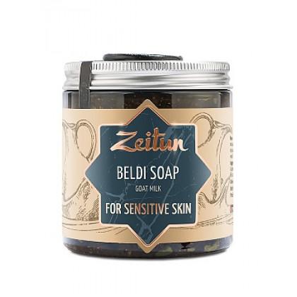 Деревенское мыло Бельди №8 сливочное для чувствительной кожи, 250 мл. - Zeitun, Иордания