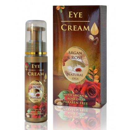 Крем от морщин вокруг глаз с Аргановым и Розовым маслом